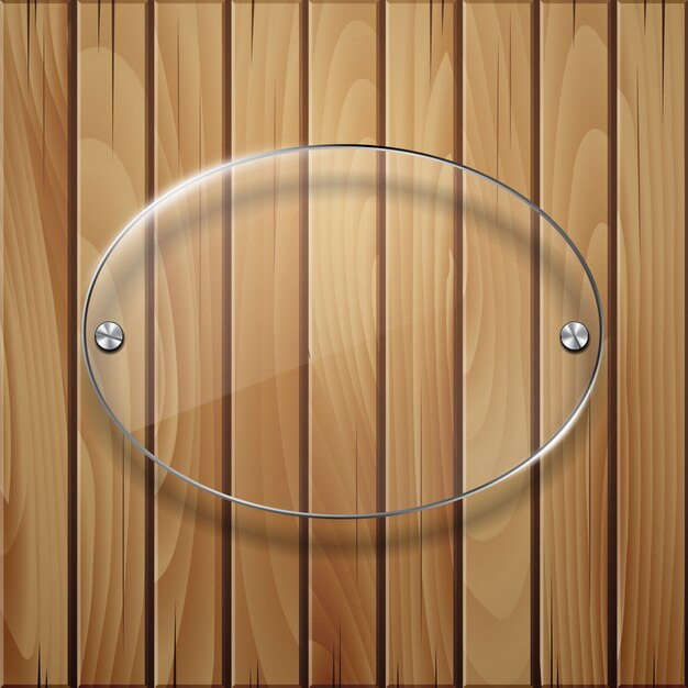 Wooden texture with glass framework. Premium Vector