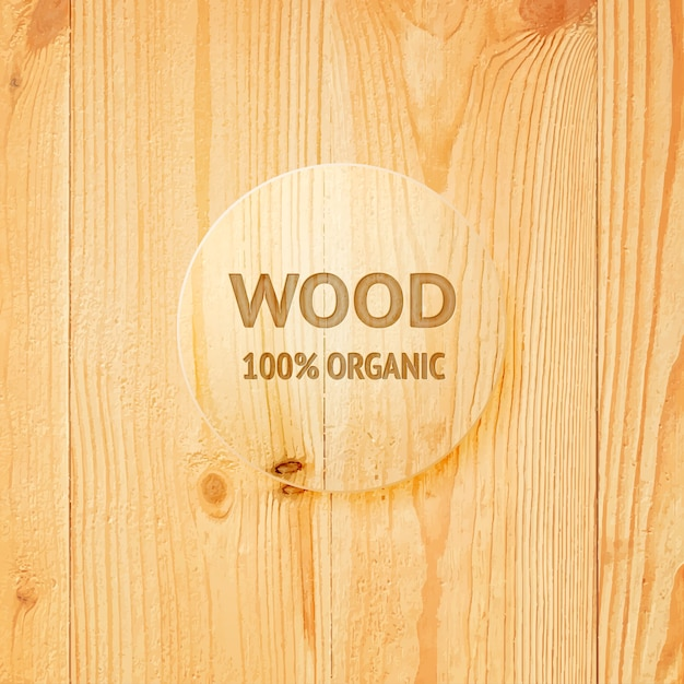 Wooden texture with glass lens. Free Vector