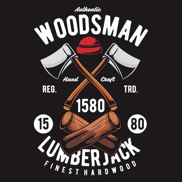Woodsman Premium Vector