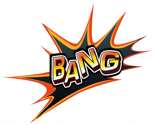 A word bang Free Vector