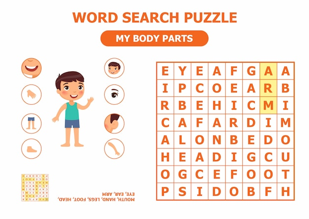 Word search puzzle Premium Vector