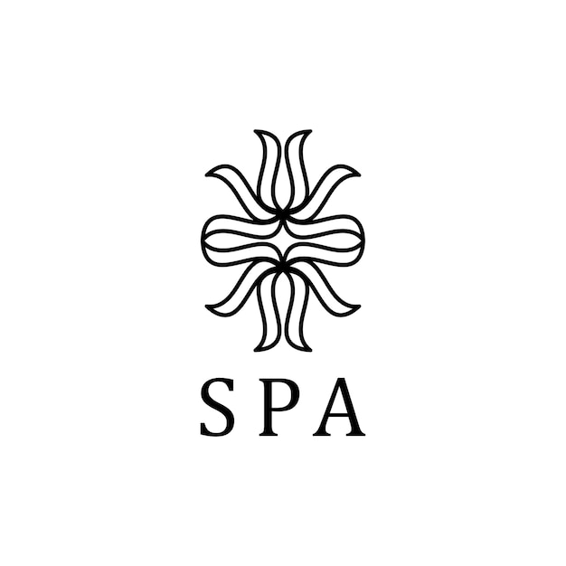 The word spa typography logo vector Free Vector