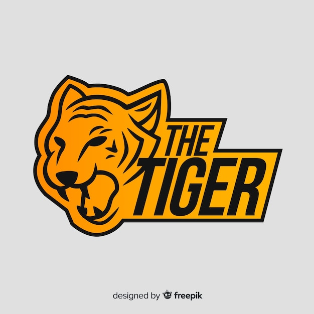 Word and tiger logo Free Vector