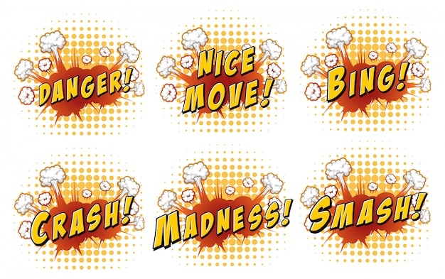 Words on cloud explosion Free Vector