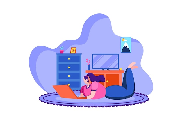 Work from home web illustration 03
