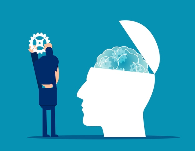 Work to give metal gear psychology therapy Premium Vector