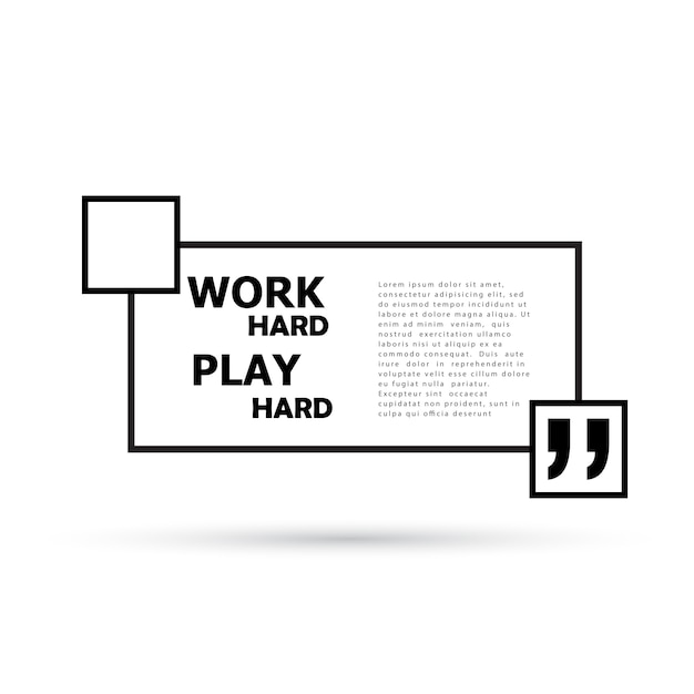 Work hard play hard. Free Vector