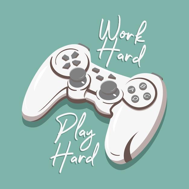 Work hard play hard Premium Vector