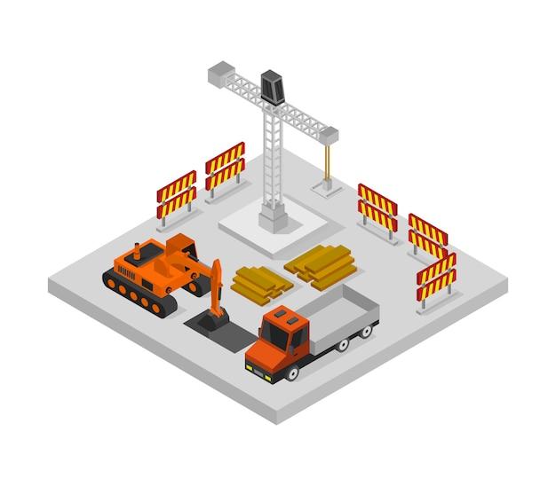 Work in progress isometric Premium Vector