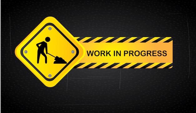 Work in progress Premium Vector