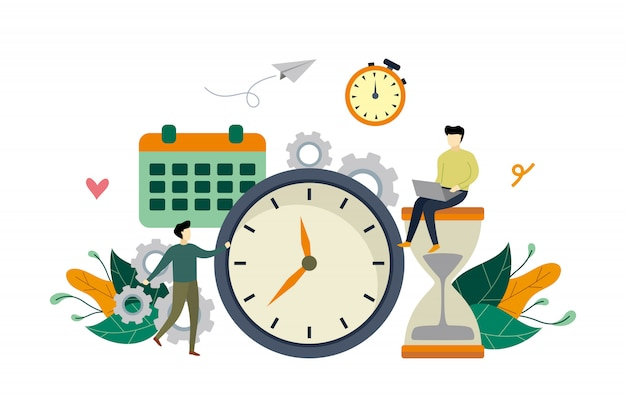 Animated illustration of work management by people for productivity