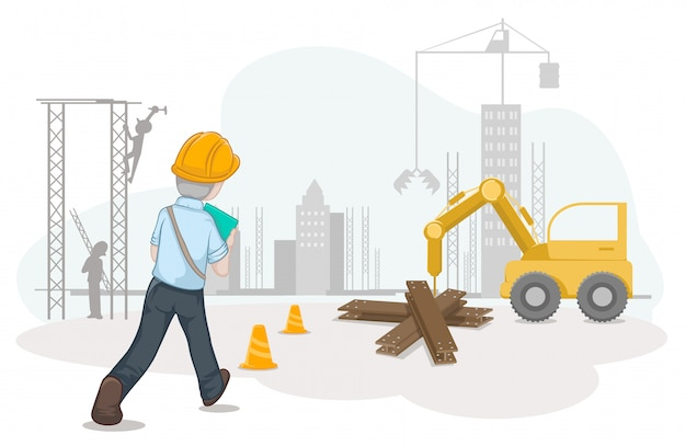 Worker and labour for labour day Premium Vector