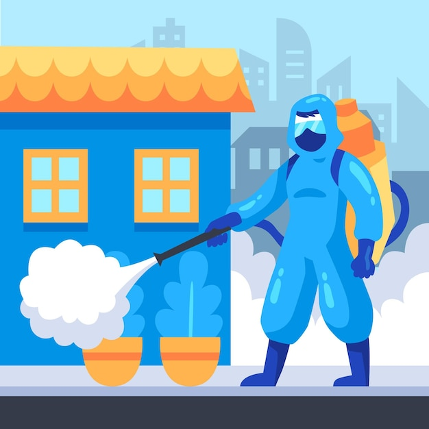 Работники, предоставляющие услуги по уборке Бесплатные векторы