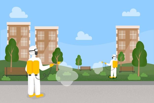 Работники, предоставляющие услуги по уборке в общественных местах Бесплатные векторы