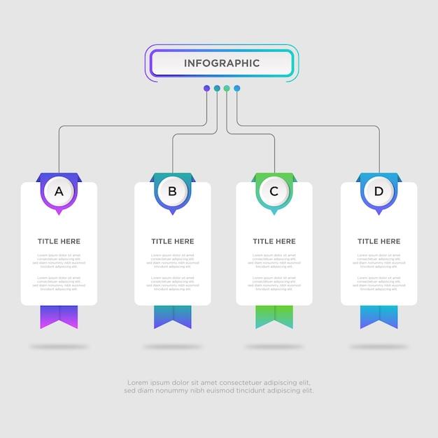 Workflow infographic design template Premium Vector