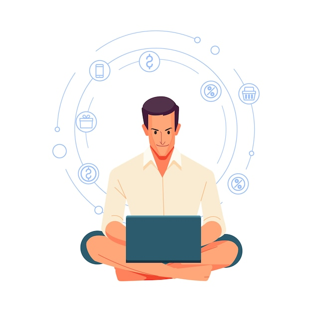 Working at home. people at home in quarantine. Premium Vector