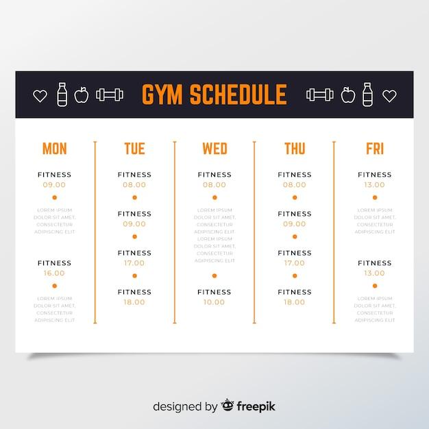 Workout Schedule Template | Workout Schedule Template Vector Free Download