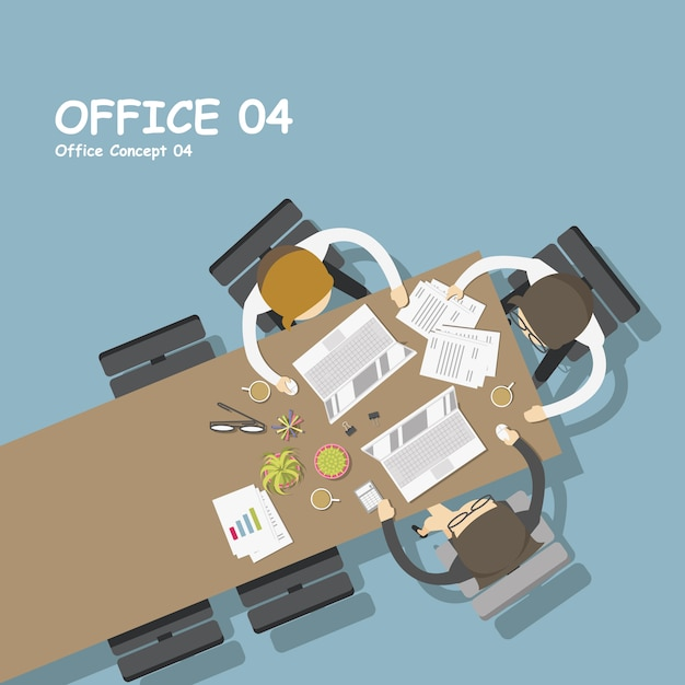 Workplace background design Free Vector