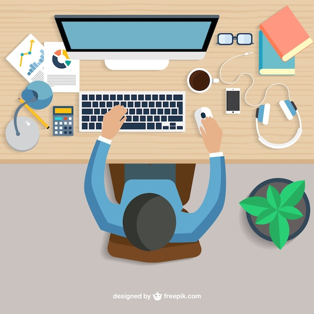 Workplace concept Free Vector