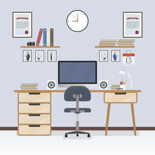 Workspace Vectors Photos and PSD files Free Download