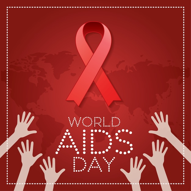 World aids day. 1st december world aids day postern Premium Vector