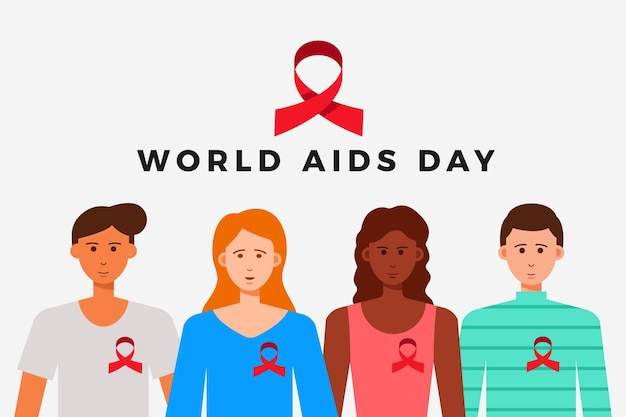 World aids day concept illustration Free Vector