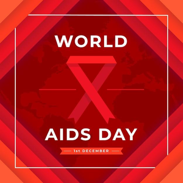 Evento della giornata mondiale contro l'aids in stile cartaceo Vettore gratuito