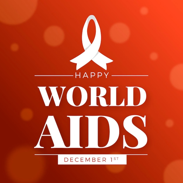 World aids day in flat design Free Vector