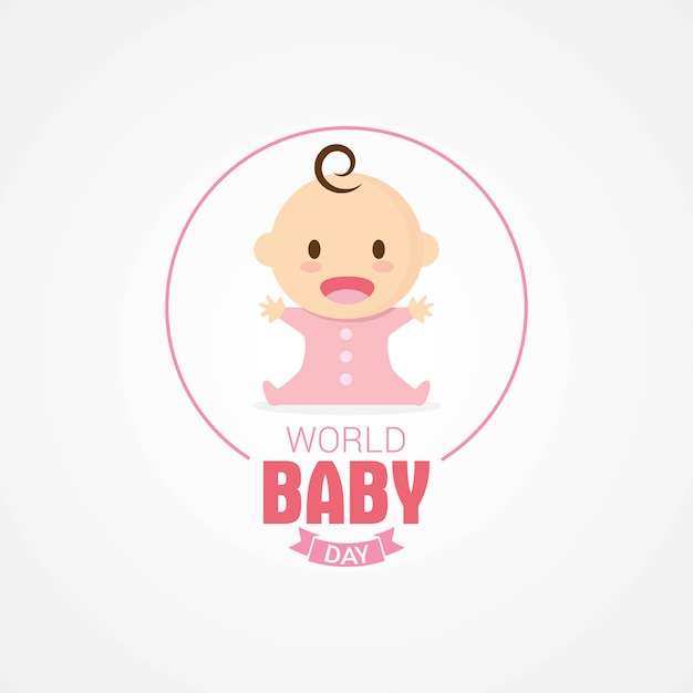 Premium Vector | World baby day