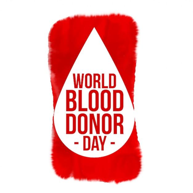 世界献血日コンセプトポスターデザイン 無料ベクター