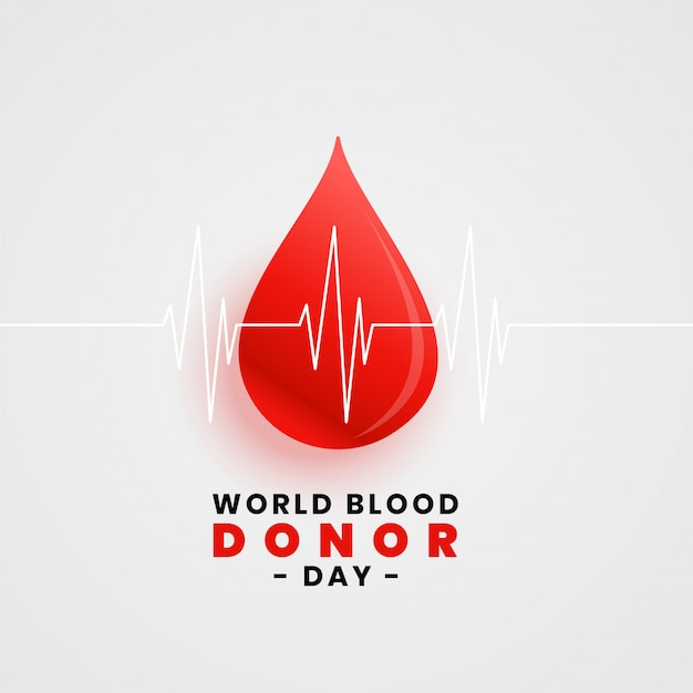 血の滴の世界献血日コンセプトポスター 無料ベクター