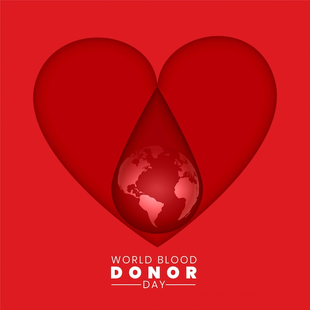World blood donor day background concept Free Vector