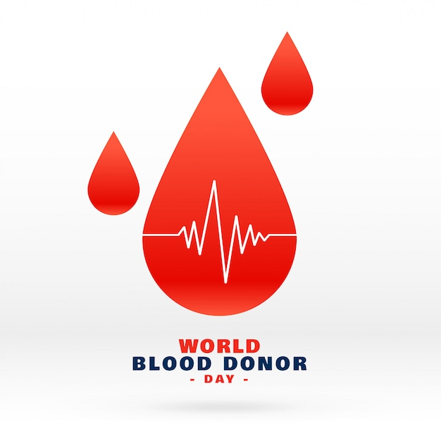 World blood donor day blood drop Free Vector