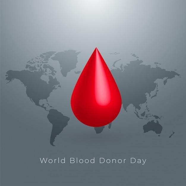 世界の献血者の日の概念の背景デザイン 無料ベクター