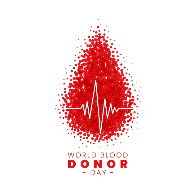 世界の献血者の日コンセプトポスターデザイン 無料ベクター