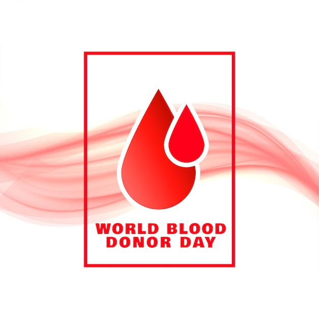World blood donor day event concept poster design Free Vector