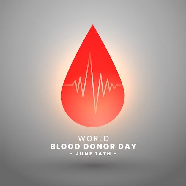世界献血者の日6月14日背景デザイン 無料ベクター