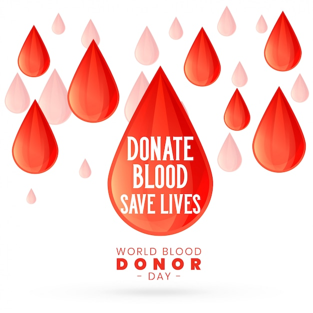 For world blood donor day Free Vector