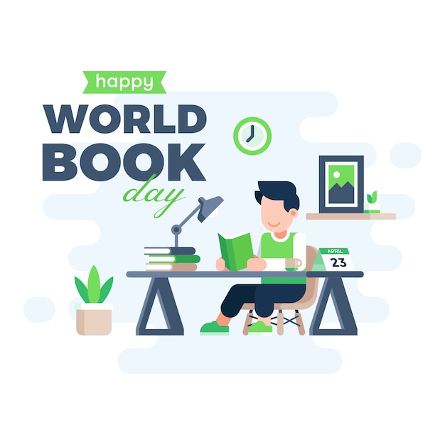 World book day background Premium Vector