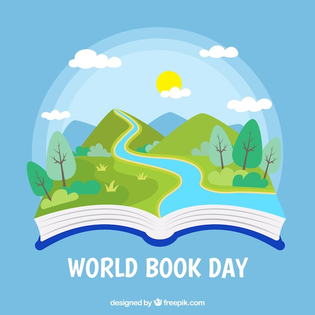 World book day background Free Vector