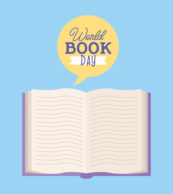 World book day card Premium Vector