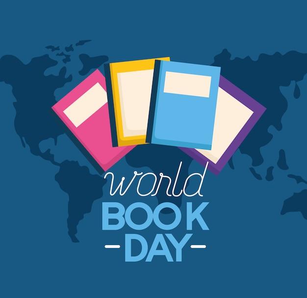 World book day illustration Free Vector