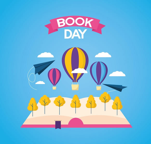 World book day Free Vector