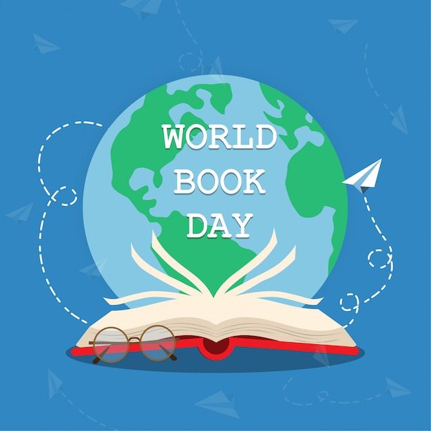 World book day Premium Vector