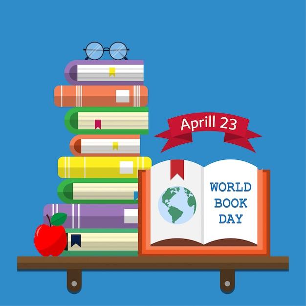World book day Premium Vector
