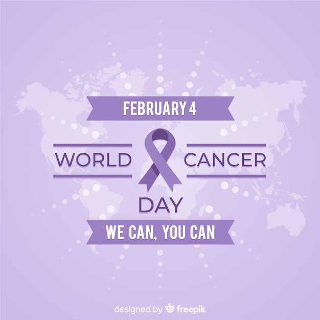 World cancer day background Free Vector