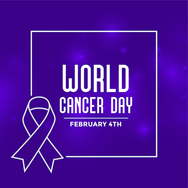 World cancer day event background Free Vector