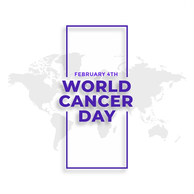 World cancer day february 4th event background Free Vector