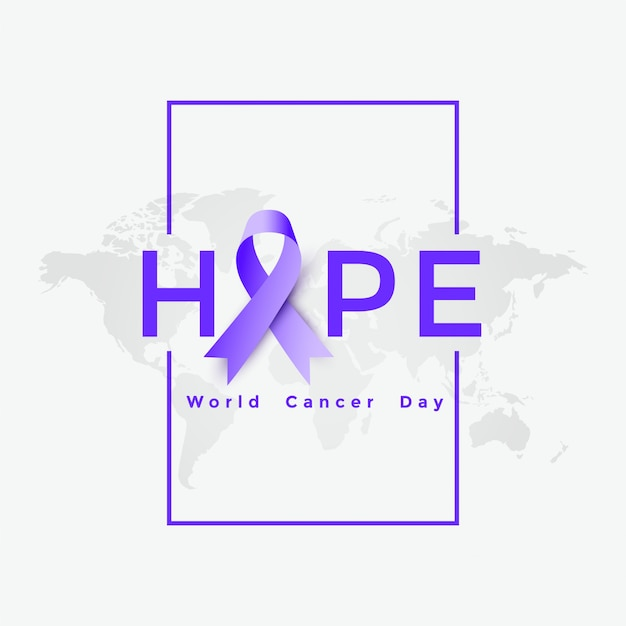 World cancer day poster illustration Free Vector