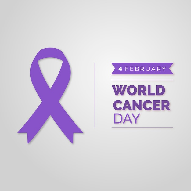 World cancer day ribbon Free Vector